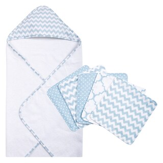 Trend Lab Blue Sky 6-piece Chevron Hooded Towel and Wash Cloth Set