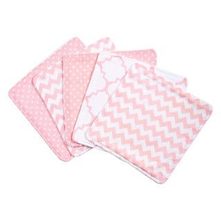 Trend Lab Pink Sky 5 Pack Wash Cloth Set