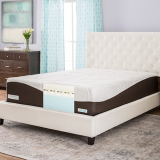 comforpedic from beautyrest 14 inch queen size memory foam mattress bedroom furniture photo