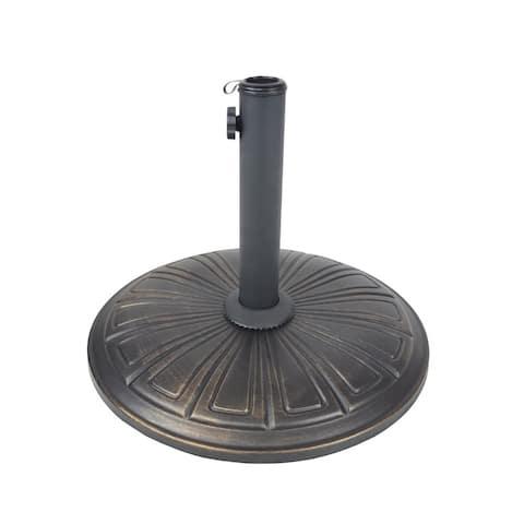 Cast Concrete 28 lb Umbrella Stand