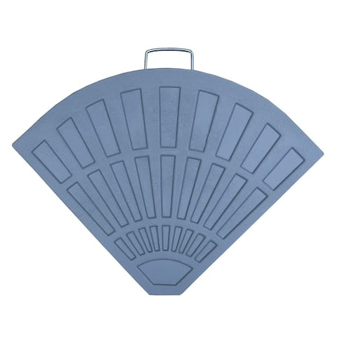 Cast Rust-free Polyresin Fan Shape 40 lb Umbrella Stand
