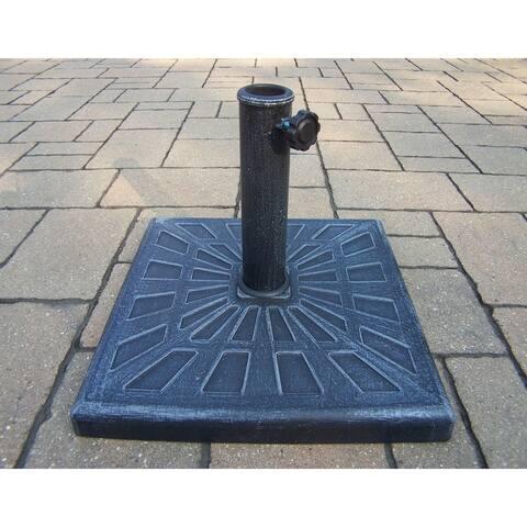 Cast Polyresin Odyssey Square Rust-free 26 lb Umbrella Stand