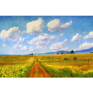 Marmont Hill - Road to Sky by Chris Vest Painting Print on Canvas