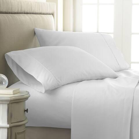 Soft Essentials Premium Embossed Checker Design 4-piece Bed Sheet Set