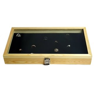 Ikee Design Natural Wood Case with Tempered Glass Top Lid and 72 Slot Ring Foam|https://ak1.ostkcdn.com/images/products/10910856/P17942412.jpg?_ostk_perf_=percv&impolicy=medium