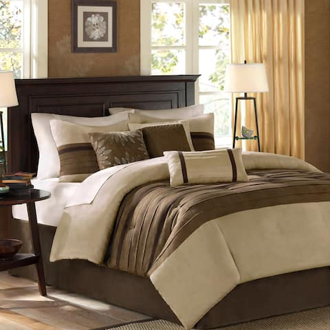 Madison Park 'Teagan' 7-piece King Size Comforter Set in Natural (As Is Item)