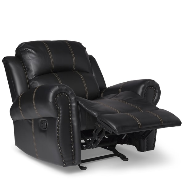 Charlie PU Leather Glider Recliner Club Chair by Christopher Knight Home - Free Shipping Today - Overstock.com - 17944225  sc 1 st  Overstock.com & Charlie PU Leather Glider Recliner Club Chair by Christopher ... islam-shia.org