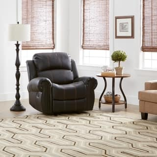 Charlie PU Leather Glider Recliner Club Chair by Christopher Knight Home. Living Room Chairs For Less   Overstock com