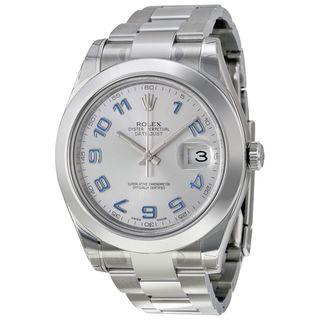Rolex Men's Datejust II Rhodium Dial Watch