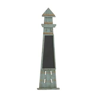 "Wood Chalk Board Lighthouse 15""W, 47""H"