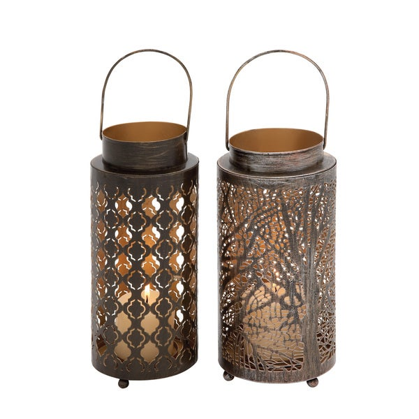 Metal Candle Lantern 2 Assorted