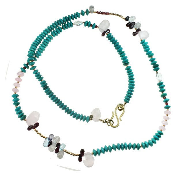 One-of-a-kind Michael Valitutti Howlite Multi-Gemstone Necklace