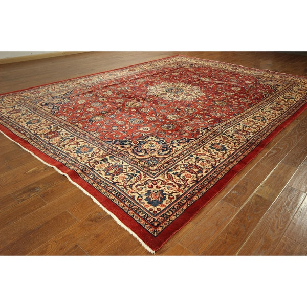Fine Round Persian Bidjar Area Rug Hand Knotted Wool And: Shop GT111 Siam Red And Ivory Super Fine Mahal Hand