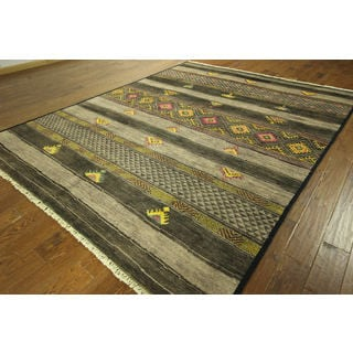 Sh8791 Design Earth Tone Amulet Motif Hand-knotted Wool Rug (8' x 10')