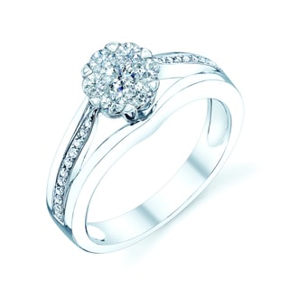 14k White Gold 1/2ct TDW Diamond Engagement Ring (H-I, VS1-VS2)