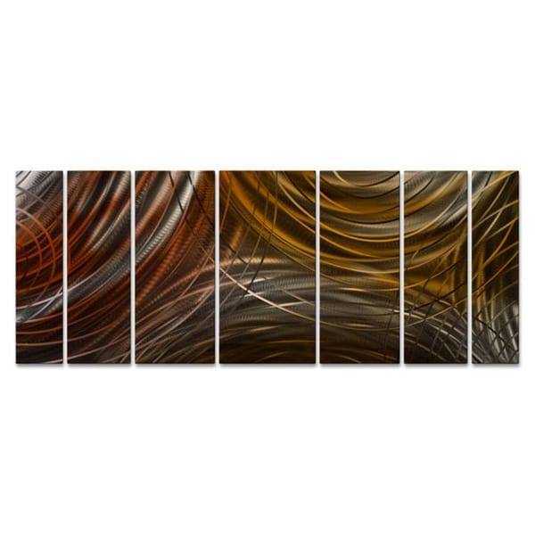 Metal Wall Art 'Connecting Rings' Ash Carl