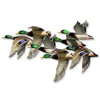 Metal Wall Art 'String of Mallards' Ash Carl