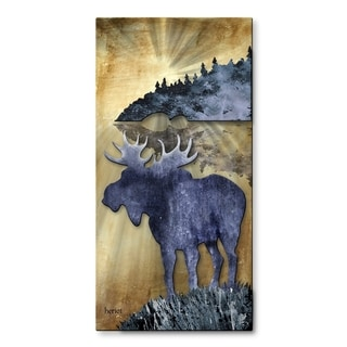 Metal Wall Art 'Moose by the Lake' Josh Heriot