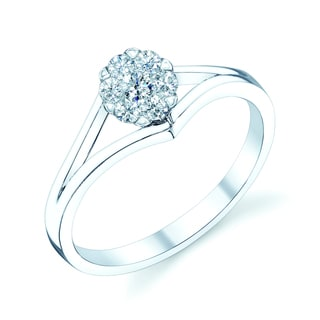 14k White Gold 1/5ct TDW Diamond Promise Ring (H-I, VS1-VS2)