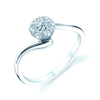 14k White Gold 1/4ct TDW Diamond Promise Ring (H-I, VS1-VS2)