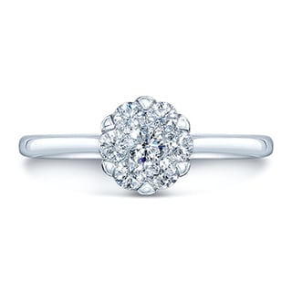 14k White Gold 1/3ct TDW Solitaire Ring