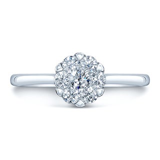 14k White Gold 1/3ct TDW Solitaire Ring (H-I, VS1-VS2)