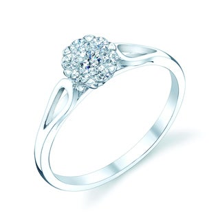 14k White Gold 1/4ct TDW Diamond Engagement Ring (H-I, VS1-VS2)