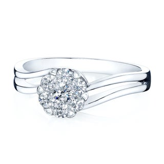 14k White Gold 2/5ct TDW Diamond Everyday Elegance Ring (H-I, VS1-VS2)