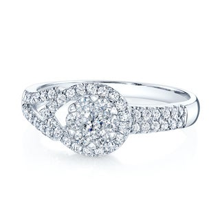 14k White Gold 1/2ct TDW Diamond Wedding Ring (H-I, VS1-VS2)