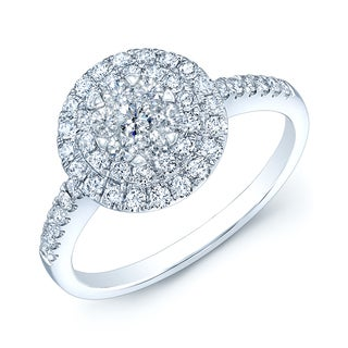 14k White Gold 3/4ct TDW Diamond Commitment Ring