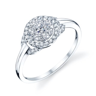 14k White Gold 3/4ct TDW Diamond Promise Ring