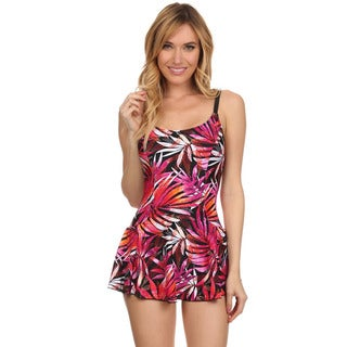 Dippin Daisy's Orange Leaves One Piece Swimdress