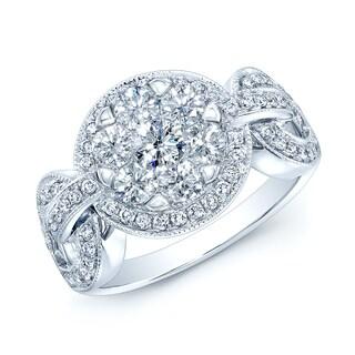 14k White Gold 1 1/6ct TDW Diamond Anniversary Ring