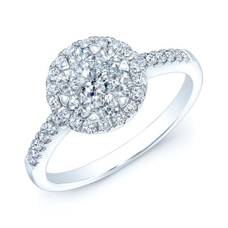 14k White Gold 5/8ct TDW Diamond Promise Ring (H-I, VS1-VS2)