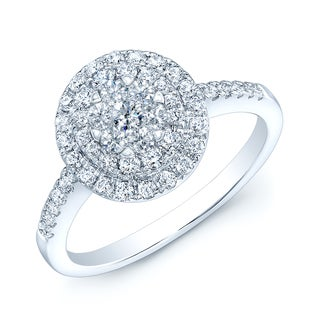 14k White Gold 5/8ct TDW Diamond Engagement Ring - White H-I
