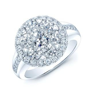 14k White Gold 1 1/4ct TDW Diamond Engagement Ring (H-I, VS1-VS2)