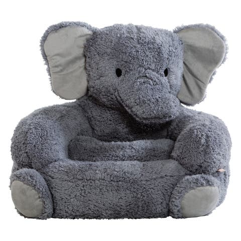 Trend Lab Children's Plush Elephant Character Chair