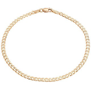 Pori 18k Yellow Gold Cuban Chain Bracelet