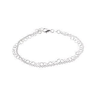 Pori Sterling Silver Multi-Strand Rolo Chain Bracelet
