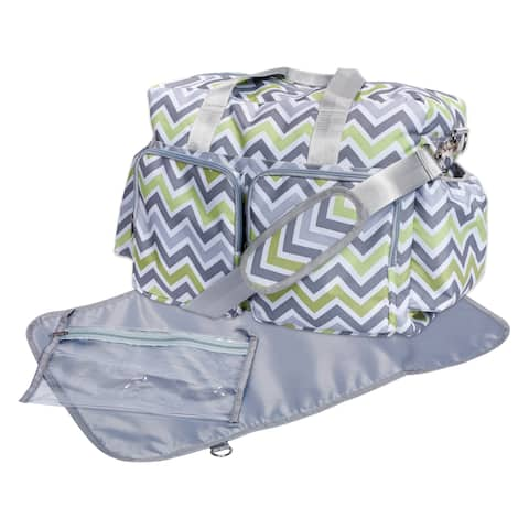 Trend Lab Chevron Deluxe Multicolored Duffel Diaper Bag