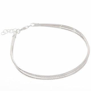 Pori Sterling Silver Multi-Strands Omega Chain Bracelet