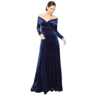 Women's Velvet Long Sleeve Convertible Front-to-Back Maxi Dress Cocktail Gown|https://ak1.ostkcdn.com/images/products/10913696/P17944694.jpg?impolicy=medium