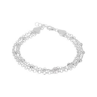 Pori Sterling Silver Multi-Strand Bracelet