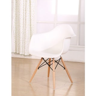 Retro Eames Style Wood Accent Chair with Arms