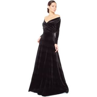 Women's Velvet Long Sleeve Convertible Front-to-Back Maxi Dress Cocktail Gown|https://ak1.ostkcdn.com/images/products/10913718/P17944695.jpg?impolicy=medium