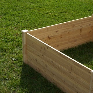 Riverstone Industries Eden Quick Assembly 17.5-inch Raised Garden Bed (4x8) - Tan