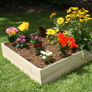 Riverstone Industries Eden Quick Assembly 17.5-inch Raised Garden Bed (4x4)