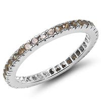 Malaika Sterling Silver 3/5 Carat Genuine Champagne Diamond Ring