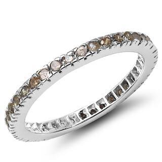 Malaika Sterling Silver 3 5 Carat Genuine Champagne Diamond Ring