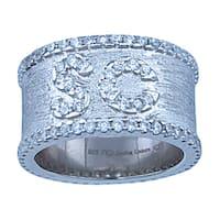Sofia Sterling Silver 1ct TGW Cubic Zirconia Wedding Band Ring
